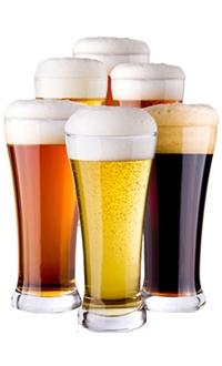 Birre alla spina piccole, medie e grandi